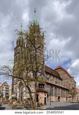 St. Lorenz is a medieval church in Nuremberg Germany. It is dedicated to Saint Lawrence.