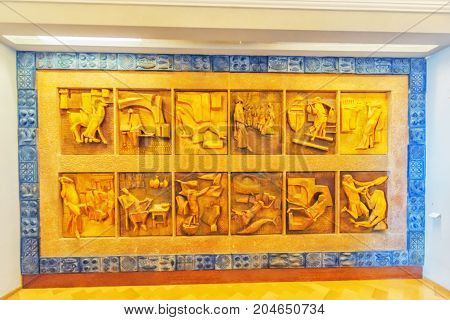 Vatican-city, Vatican - May 09, 2017: Inside The Vatican Museum, One Of The Largest Museums In The W