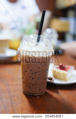 Ice Cocoa With Whipping Cream