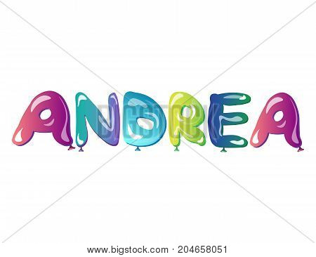 beautiful female name Andrea text. Vector illustration