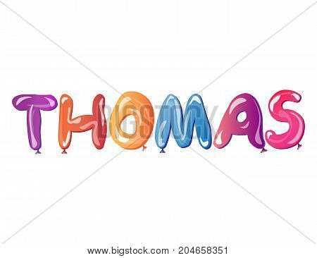 Thomas male name Vector illustration on white background