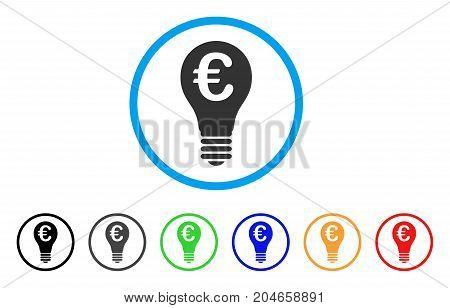 Euro Patent rounded icon. Style is a flat euro patent grey symbol inside light blue circle with black, gray, green, blue, red, orange versions. Vector designed for web and software interfaces.