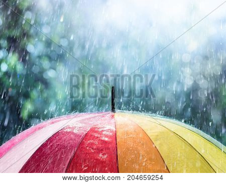 Rain On Rainbow Umbrella - The Bad Weather Is Coming