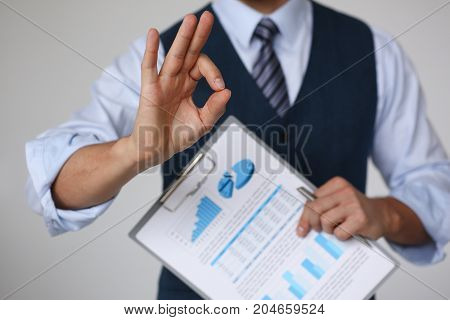 Male Arm Show Ok Or Confirm During Conference