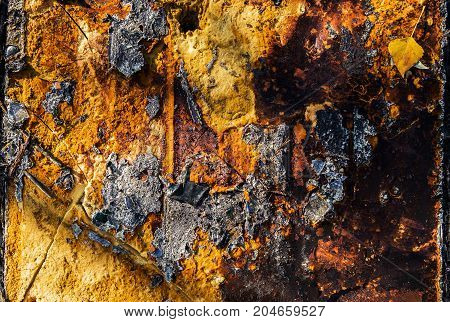 Abstract grunge yellow background. Rusty metal. Abstract yellow background