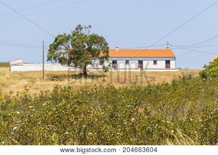 Typical Portuguese House In A  Farm In Aljezur