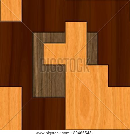 Geometric wooden texture background. Seamless geometric pattern.