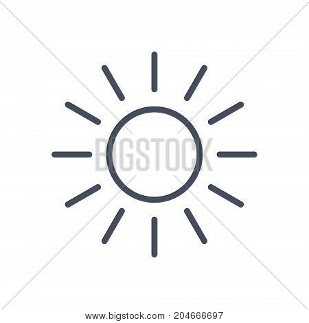 Sun Icon Sunny Weather Concept Forecast Climate Vector Illustration