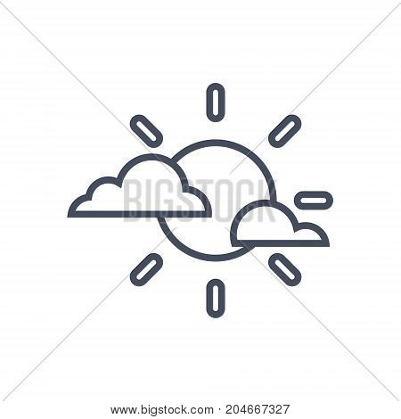 Clouds And Sun Weather Icon Climate Forecast Concept Vector Illustration