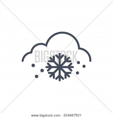 Snow Weather Icon Climate Forecast Concept Vector Illustration