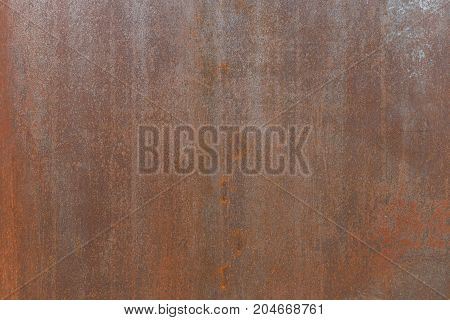 Old Rusty Metal Painted With Red Paint