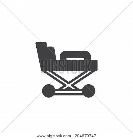 Hospital stretcher icon vector, filled flat sign, solid pictogram isolated on white. Medicine and Health symbol, logo illustration