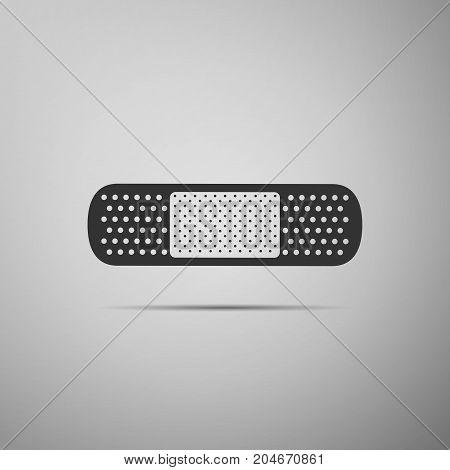 Medical bandage plaster icon isolated on grey background. Flat design. Vector Illustration