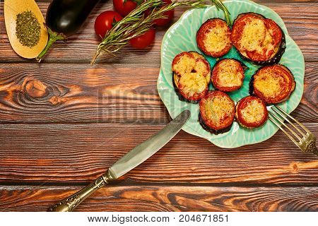 Grilled Vegetables Dinner Concept, Top View