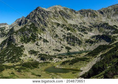 Amazing landscape with Prevalski lakes and Valyavishki chukar peak, Pirin Mountain, Bulgaria