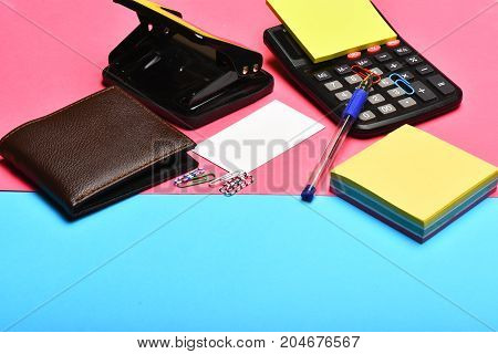 Office Tools: Calculator, Hole Punch, Card, Note Paper, Pen, Clips