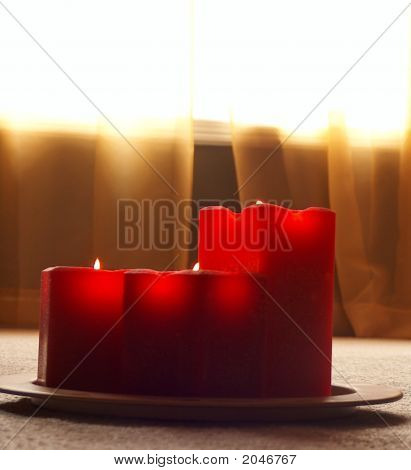 Relaxing Red Candles