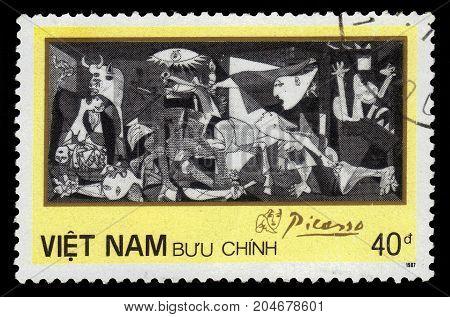 Vietnam - CIRCA 1987: A stamp printed in Vietnam shows