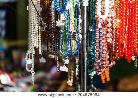 Costume Jewelery In A Street Retail Store