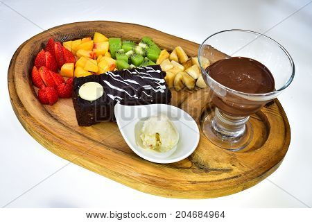 fondue plates service menu & service menu