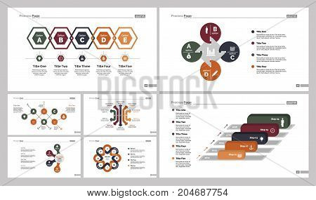 Infographic design set can be used for workflow layout, diagram, annual report, presentation, web design. Business and consulting concept with process charts.