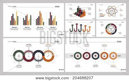 Infographic design set can be used for workflow layout, diagram, annual report, presentation, web design. Business and concept with process, bar and percentage charts.