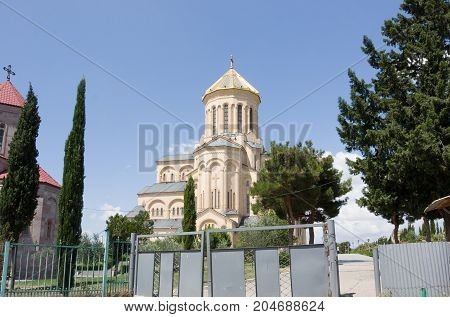 The Holy Trinity Cathedral of Tbilisi. This is the main Cathedral of the Georgian Orthodox Church located in Tbilisi, the capital of Georgia