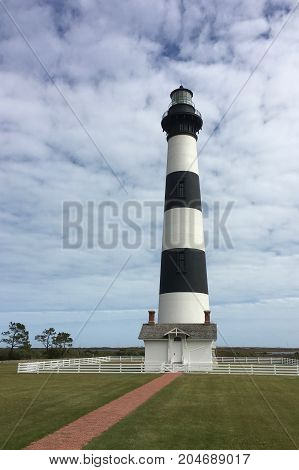 Bodie Island Lighthouse on the Outer Bank in North Carolina