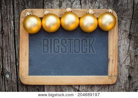 Border Of Gold Christmas Balls