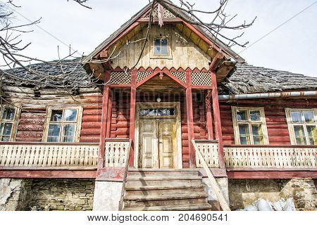 Traditional old house in Zdiar village Slovak republic. Travel destination.