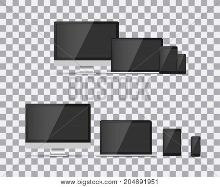 TV, modern blank screen lcd, led, on isolate background, stylish vector illustration EPS10