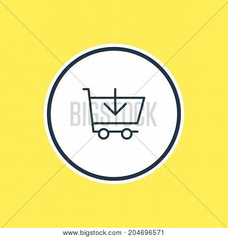 Beautiful Wholesale Element Also Can Be Used As Buy  Element.  Vector Illustration Of Add Outline.
