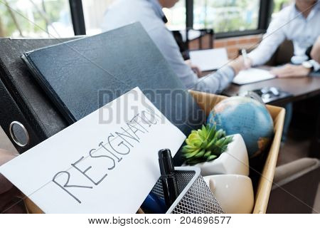 Worker Resignation. Business Unemployment Concept.