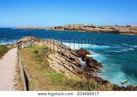 Atlantic ocean's bluff in Spain ,Soto de la Marina