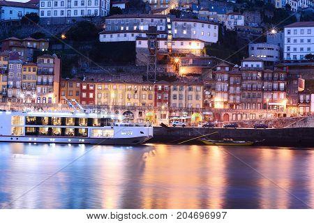 Porto Old City And Douro River, Portugal.