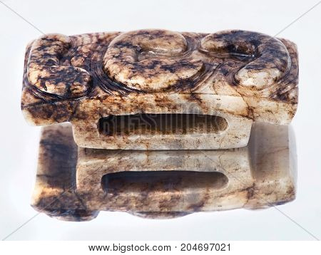 Antique 19th century Chinese Jade dagger hilt.
