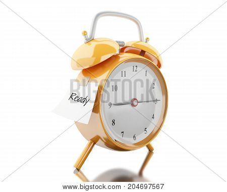 3D Alarm Clock With Sticky Paper Written