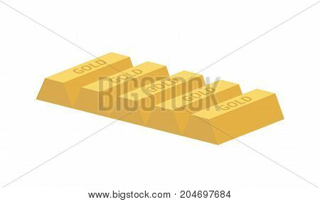Five Gold Ingots