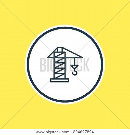 Beautiful Structure Element Also Can Be Used As Lifting Element.  Vector Illustration Of Crane Outline.