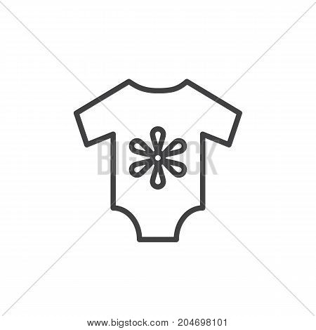 Baby's loose jacket line icon, outline vector sign, linear style pictogram isolated on white. Symbol, logo illustration. Editable stroke