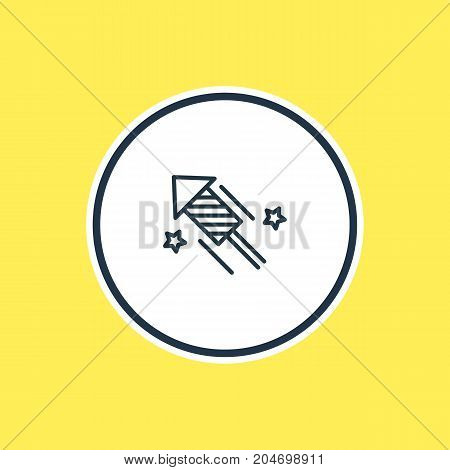 Beautiful Banquet Element Also Can Be Used As Firecracker Element.  Vector Illustration Of Firework Outline.