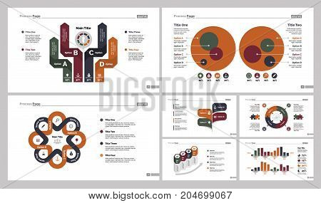 Infographic design set can be used for workflow layout, diagram, annual report, presentation, web design. Business and recruitment concept with process and percentage charts.