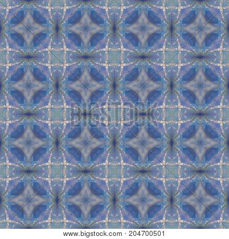 Abstract celestial blue seamless pattern. Skiey artistic background.