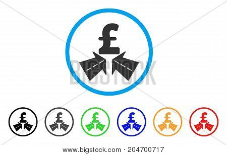 Pound Success Roads rounded icon. Style is a flat pound success roads gray symbol inside light blue circle with black, gray, green, blue, red, orange color versions.