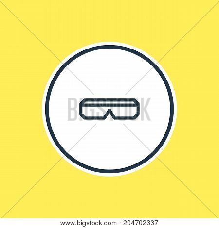 Beautiful Joy Element Also Can Be Used As Spectacles Element.  Vector Illustration Of 3D Glasses Outline.