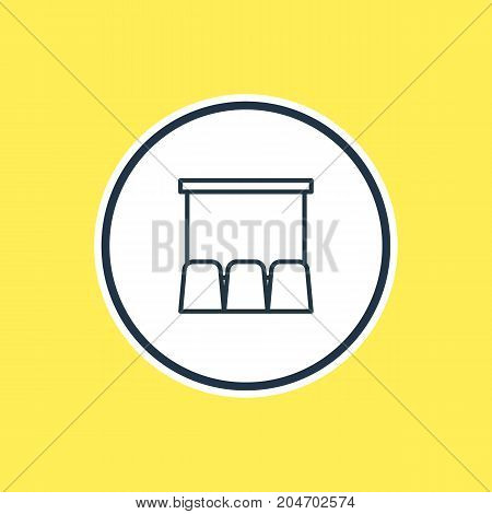 Beautiful Cinema Element Also Can Be Used As Hall Element.  Vector Illustration Of Cinema Outline.