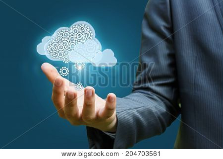 Cloud Data In Hand .