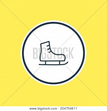 Beautiful Athletic Element Also Can Be Used As Ice Boot Element.  Vector Illustration Of Skates Outline.