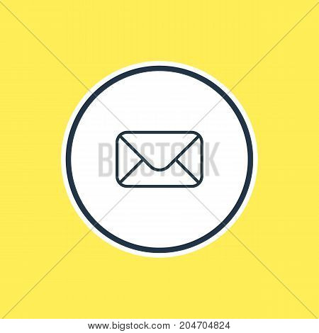 Beautiful Tools Element Also Can Be Used As Letter Element.  Vector Illustration Of Envelope Outline.
