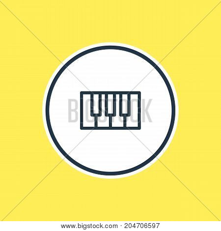 Beautiful Leisure Element Also Can Be Used As Synthesizer Element.  Vector Illustration Of Piano Outline.